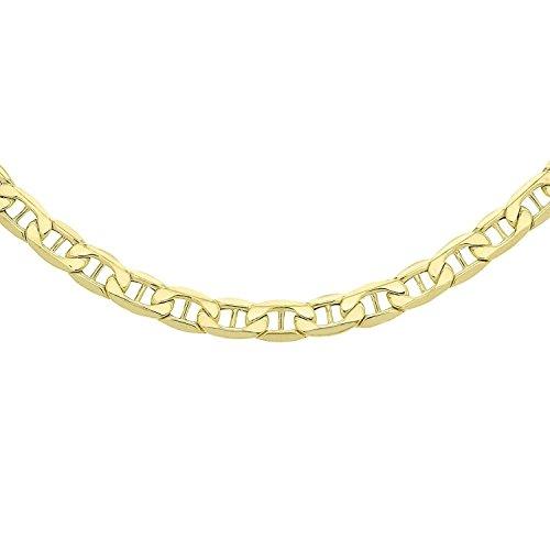 14 Karat 585 Gold Italienisch Flach Mariner Kette Gelbgold Breite 4.70 mm