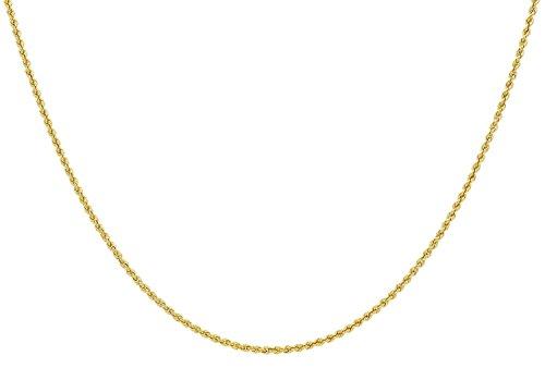 14 Karat / 585 Gold Kordelkette Gelbgold Unisex - 2 mm. Breit - Länge wählbar
