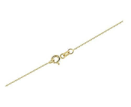 Gelin Damen Halskette aus 14 Karat - 585 Echt Gelbgold Kette mit Anhänger - mit Tropfenform Saphirblau Geburtsstein und Zirkonia, Geschenk für Geburtstag Weihnachten - Kette 45 cm